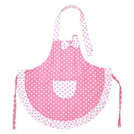 Novo Cotton Kitchen Baking Apron for Kids with Pockets, 3-5 Years Old-Children Apron Painting Cooking, Pink Cooking Aprons For Kids