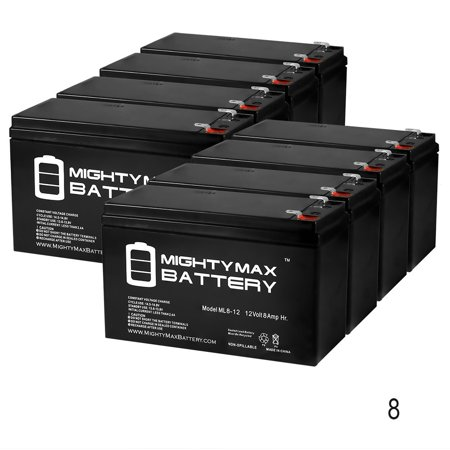 12V 8Ah Battery Replaces FireLite MS-25/E Fire Control Panel - 8 Pack Firelite Fire Alarm Control Panels