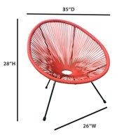E-joy acapulco patio chair for outdoor & indoor orange_1pc