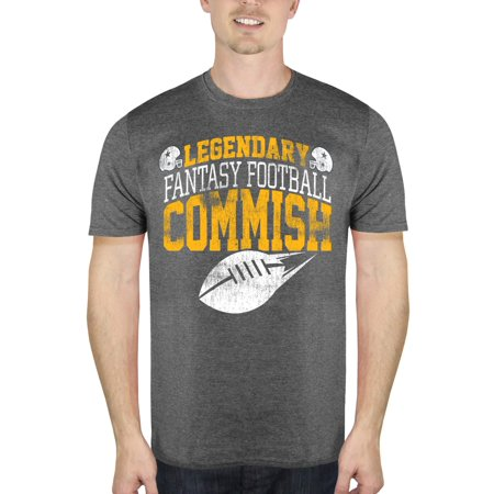 Fantasy Football Commish Men's Graphic T-Shirt, up to Size 3XL