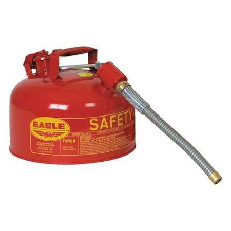 EAGLE Type II Safety Can,2-1/2 gal,Red (Eagle Type)