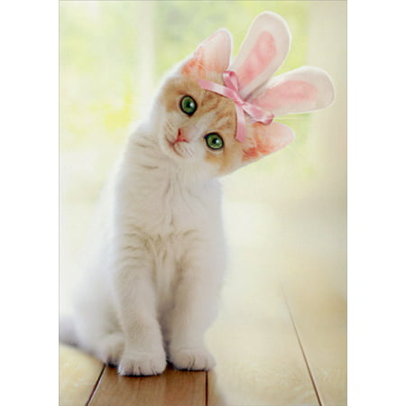 Avanti Press Kitten With Bunny Ears Cat Easter Card