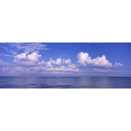 Clouds Over The Sea Tampa Bay Gulf Of Mexico Anna Maria Island Manatee County Florida Usa Poster Print