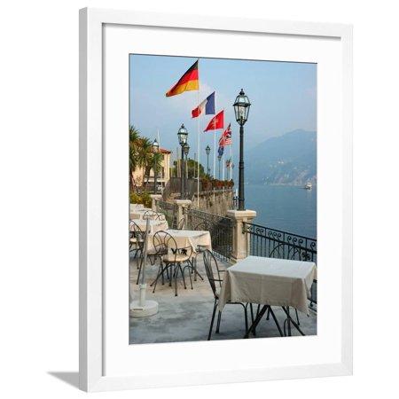 Lakeside Restaurant, Lake Como, Italy Framed Print Wall Art By Lisa S. (Best Restaurants Lake Como)