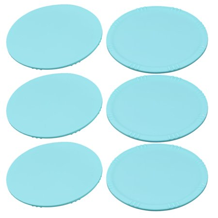 Kitchen Silicone Round Cup Heat Resistant Coaster Table Protector Mat Cyan 6pcs Image 1 Of