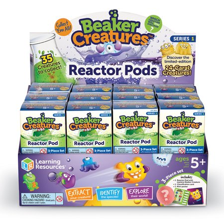 Learning Resources Beaker Creatures Reactor Pod, 3 - Halloween Science Beakers