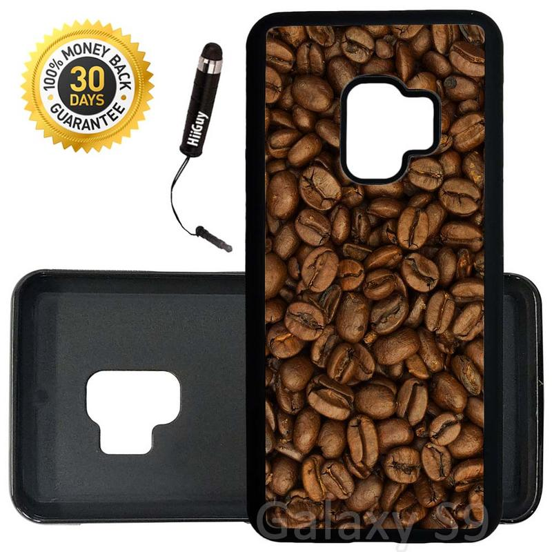 Custom Galaxy S9 Case (Coffee Beans) Edge-to-Edge Rubber Black Cover Ultra Slim | Lightweight | Includes Stylus Pen by Innosub