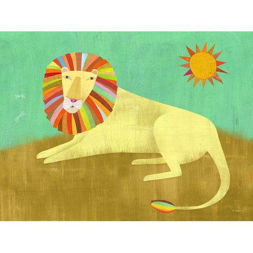 Oopsy Daisy Lounging Lion by Melanie Mikecz Canvas Art