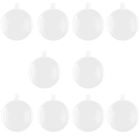 Unique Bargains Home Plastic Hanging DIY Christmas Ornament Gift Bauble Ball Clear 10pcs