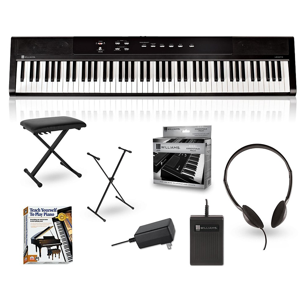 Williams Legato 88-Key Digital Piano Packages Beginner Package by Williams