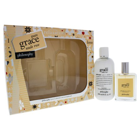 Grace Gift Set - Pure Grace Nude Rose by Philosophy for Women - 2 Pc Gift Set 2oz Pure Grace Nude Rose EDT Spray, 8oz Pure Grace Nude Rose Body Lotion