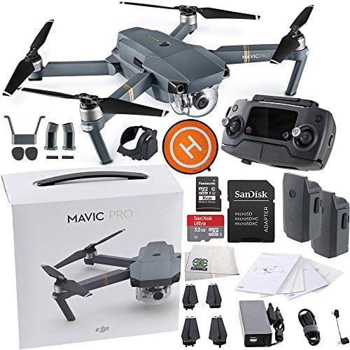 DJI Mavic Pro Collapsible Quadcopter Drone Essentials Lan...