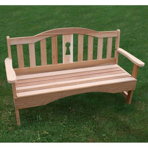 Creekvine Designs Keyway Cedar Garden Bench