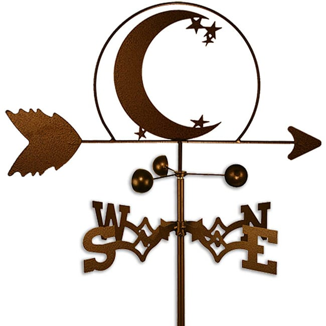 SWEN Products Inc Handmade Crescent Moon and Star Weathervane by Overstock