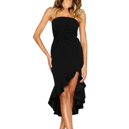 Ruffle Chest (Funcee Summer Women Sexy Wrapped Chest Backless Ruffle Dress Party)