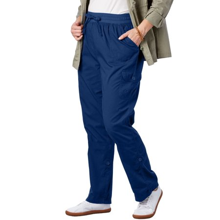a03a1ea4f3d7f Woman Within - Plus Size Petite Convertible Length Cargo Pant - Walmart.com
