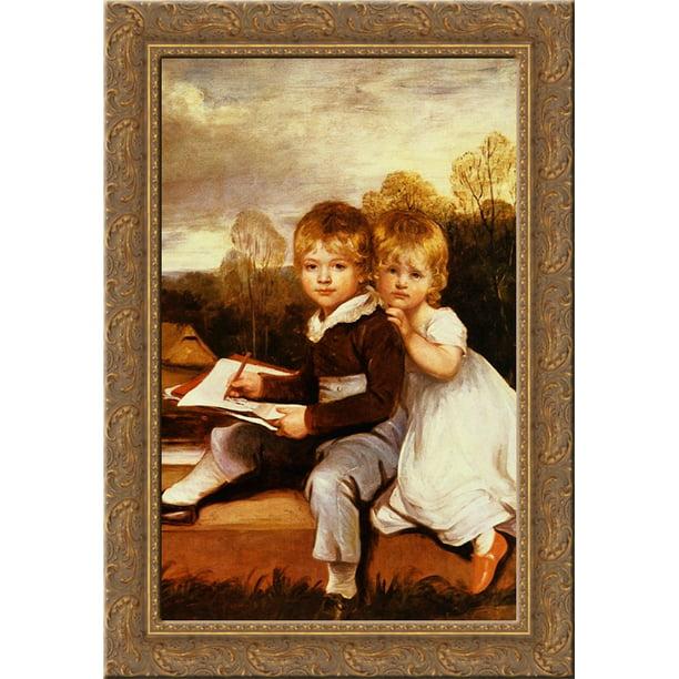 The Bowden Children 24x18 Gold Ornate Wood Framed Canvas Art By John Hoppner Walmart Com Walmart Com