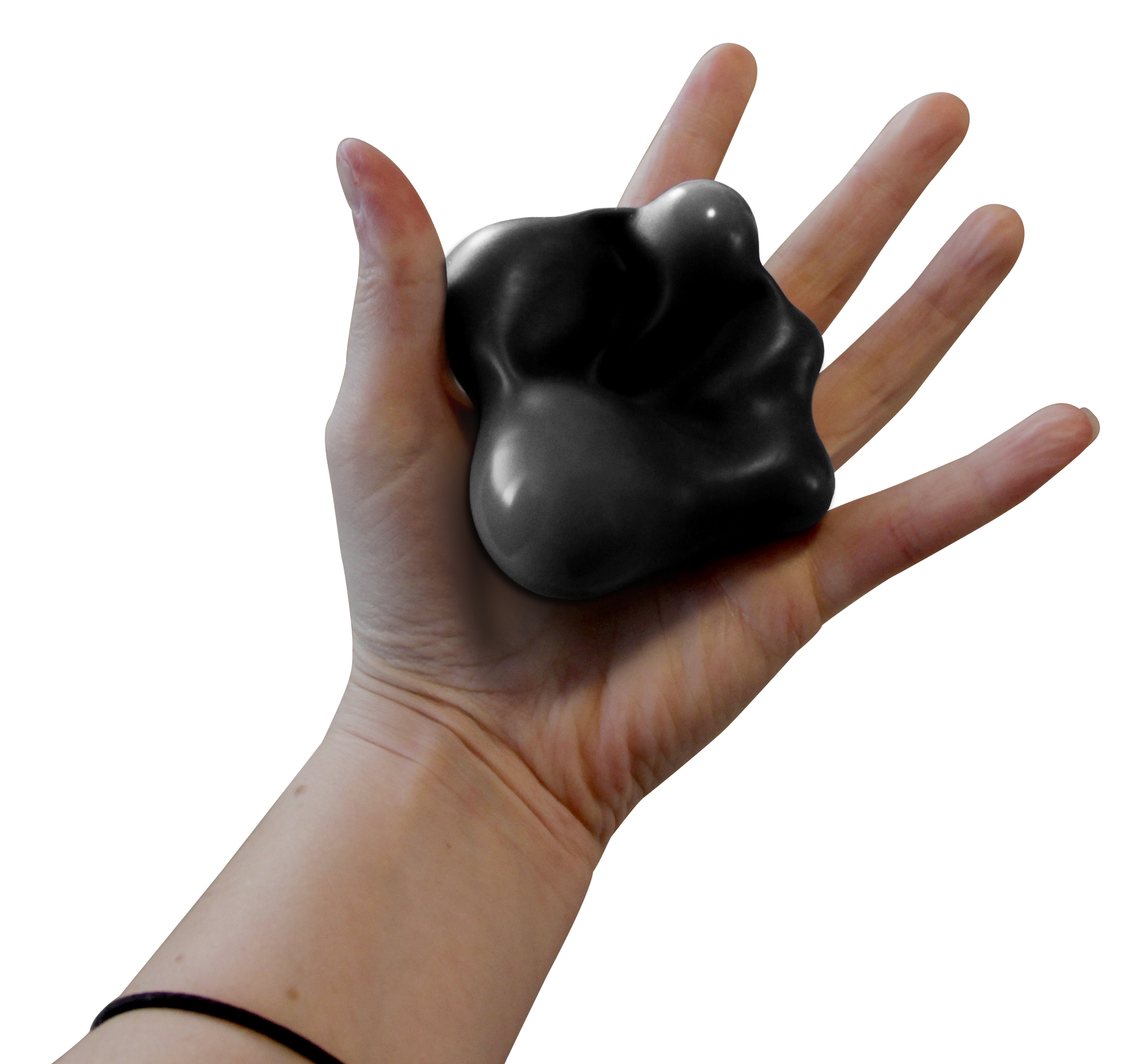 Handstands Smooosh Ball Memory Foam Stress Relief Ball - Black
