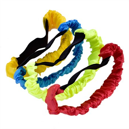 Qiilu Leg Race Bands, Race Tie Rope,4Pcs Three Legged Ropes Elastic Sport Tie Rope Foot Running Race Game for Children Kids - image 3 of 12
