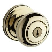 Kwikset 741H Hancock Single Cylinder Keyed Entry Knobset - Brass