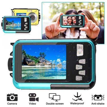 1080P Full HD Waterproof Digital Camera Underwater Camera 24 MP Video Recorder Selfie Dual Screen DV Recording