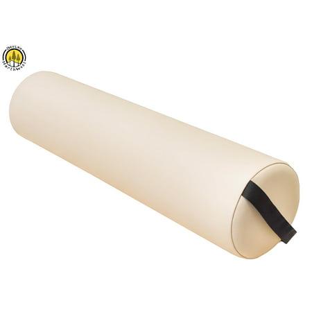 DevLon NorthWest Massage Full Round Bolster Pillow Spa Cushion Strap Handle Beige