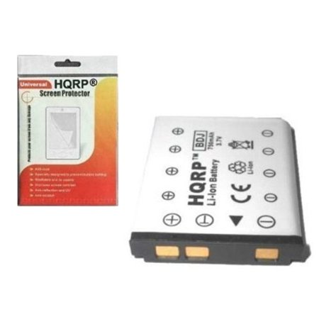 HQRP Battery for General Electric GE J1050, E1255W, E1055W, E1450W, E1480W, E1486TW, G3WP, G5WP, J1250, J1455 Digital Camera plus HQRP LCD Screen Protector