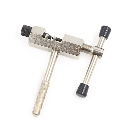 Silver Tone Stainless Steel Chain Breaker Splitter Cutter Repair Tool for Cycling