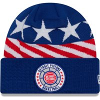 Detroit Pistons New Era 2018 Tip Off Series Cuffed Knit Hat - Blue - OSFA
