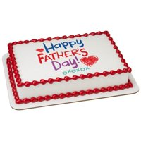 Happy Father's Day Crayon Edible Cake Topper Image