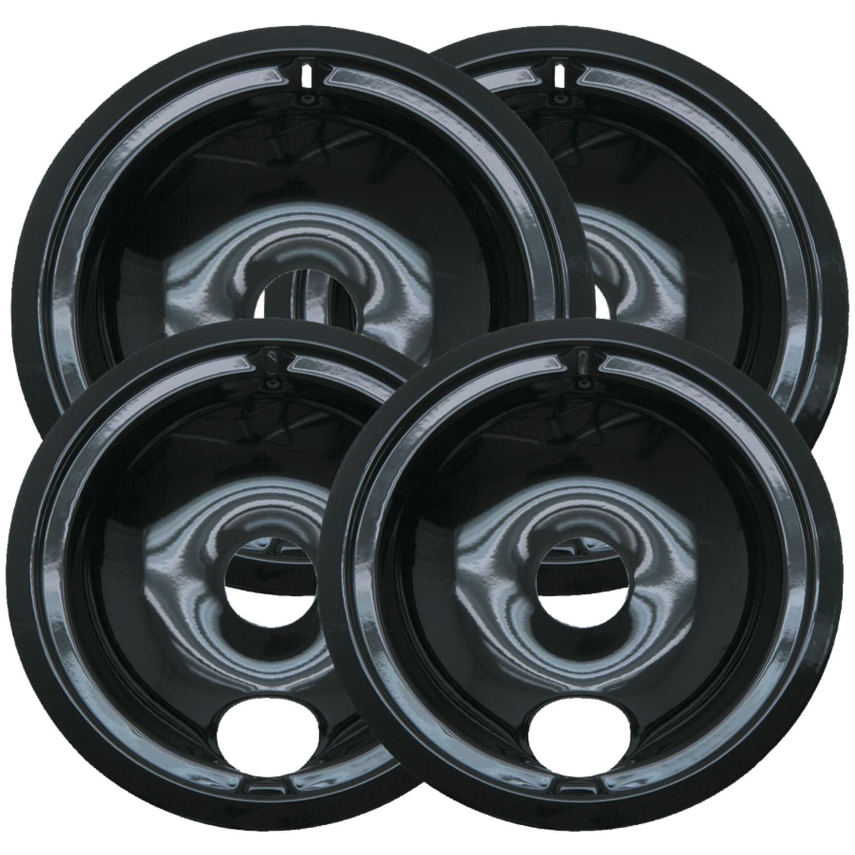 P119204xn Black Porcelain Drip Pans