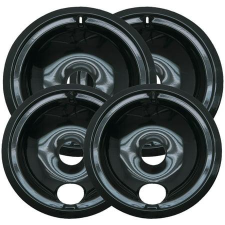 Range Kleen P119204XN Black Porcelain Drip Pans, Style B,