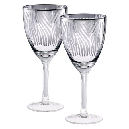 Artland Zebra Wine Glasses - Set of 4 (Zebra Wine)