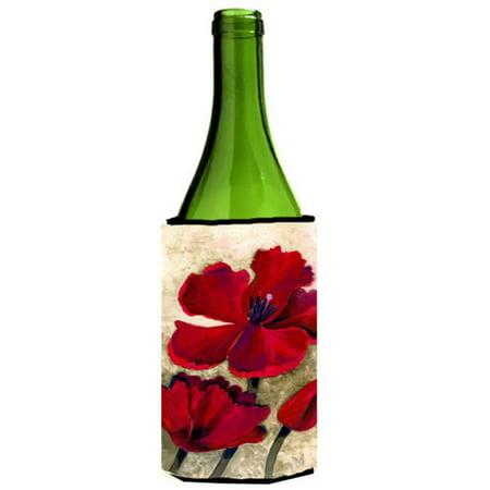 Red Tulip by Maureen Bonfield Wine Bottle Can cooler Hugger