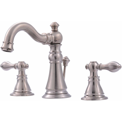 Ultra Faucets UF55113 2-Handle Brushed Nickel Lavatory Faucet with Pop-Up Drain