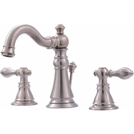 Ultra Faucets UF55113 2-Handle Brushed Nickel Lavatory Faucet with Pop-Up