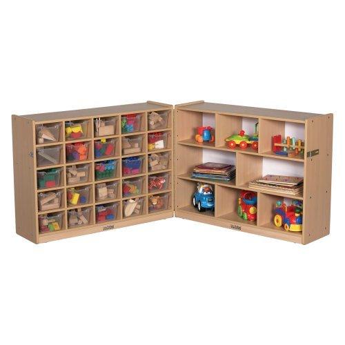 ECR4KIDS 25 Tray Storage Cabinet with Bins