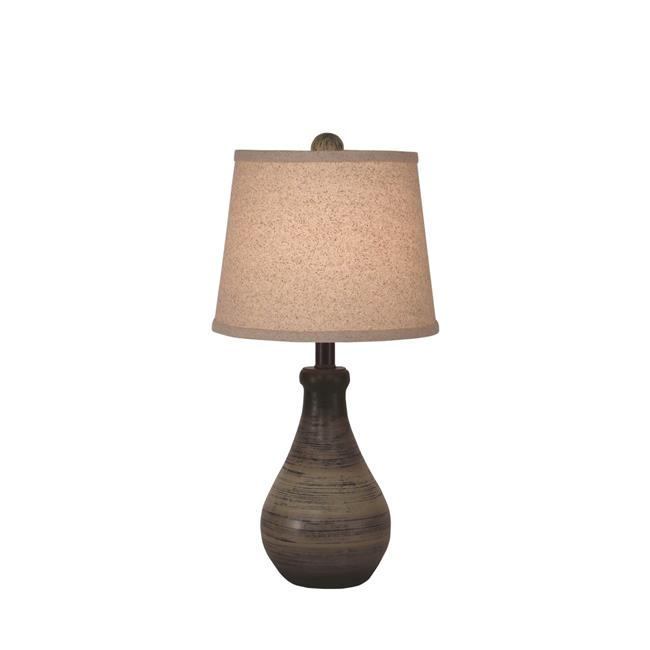 Coast Lamp Manufacturing 17 C24B Earthstone Small Eggplant Clay Table Lamp