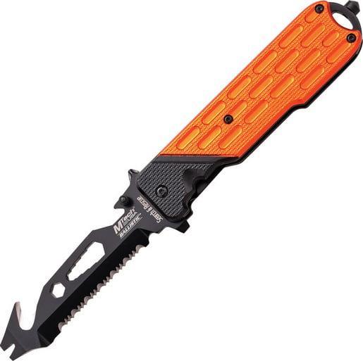 MTech A893OR Rescue Utility Assisted Orange Survival Folding Knife Pocket Folder