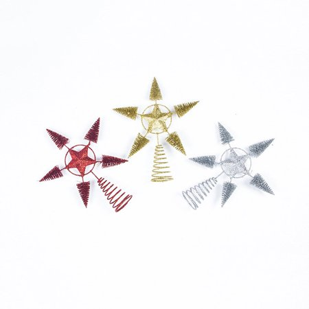 2019 new Christmas tree top star decoration Christmas decorations Christmas tree pendant decoration - image 5 of 5