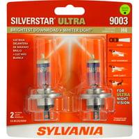 SYLVANIA 9003 SilverStar ULTRA Halogen Headlight Bulb, Pack of 2
