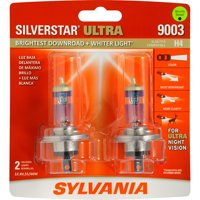 SYLVANIA 9003 SilverStar ULTRA Halogen Headlight Bulb, Pack of 2