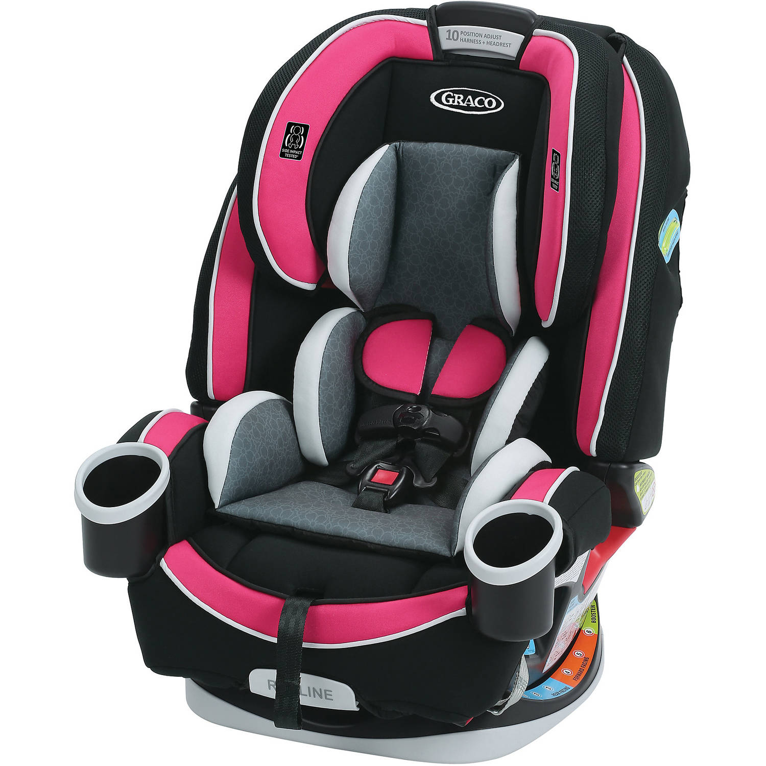 Graco 4Ever All-in-1 Convertible Car Seat, Azalea