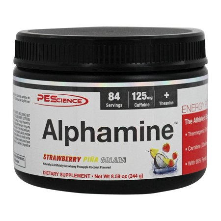 PEScience - Alphamine Energy poudre Strawberry Pina Colada - 8,59 onces.