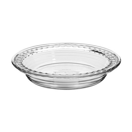 79097 Baked by Fire-King Deep Pie Plate, 9.5-Inch, Glass, Sturdy, Thick Glass Construction By Anchor Hocking