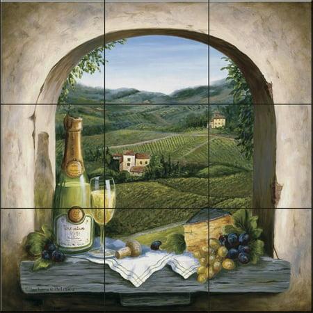 Ceramic Tile Mural - Champagne Dreams - by Barbara Felisky - Kitchen backsplash / Bathroom shower