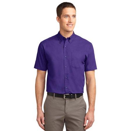Port Authority® Short Sleeve Easy Care Shirt.  S508 Purple/Light Stone 2Xl - image 1 de 1