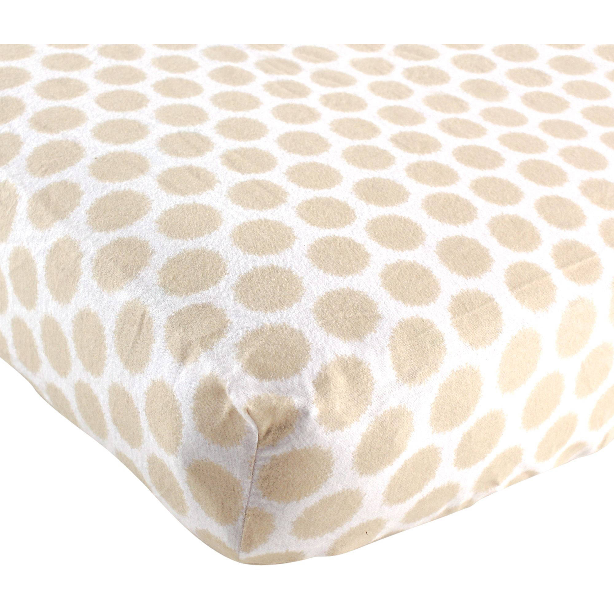 """Luvable Friends Fitted Crib Sheet, Flannel, 28"""" x 52"""", Tan"""