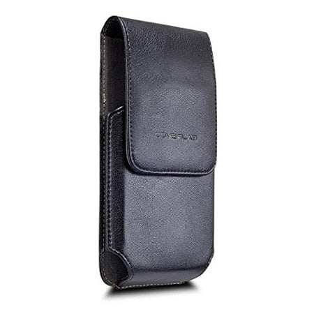 ff2b31989d1c Samsung Galaxy S10 Plus Belt Clip Case, Premium Vertical Leather Belt Clip  Pouch Holster Case For Galaxy S10/S10e (Fits with Addition Case On) - Black