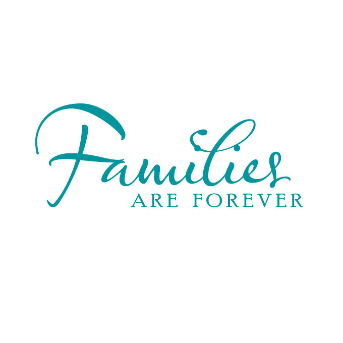 Families are Forever Vinyl Decal - Large